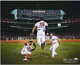 Andrew Benintendi, Mookie Betts and Jackie Bradley Jr. Boston Red Sox 2018 MLB World Series Champions Autographed 16