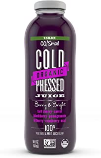 7-Select Organic Cold Pressed Juice - Berry & Bright (14 Oz, 6-Pack)