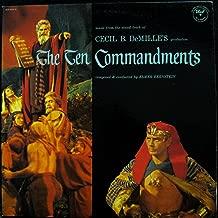 SOUNDTRACK CECIL B. DEMILLE THE TEN COMMANDMENTS vinyl record