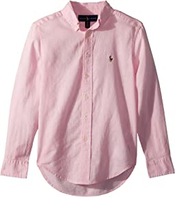 Polo Ralph Lauren Kids Linen-Cotton Shirt (Big Kids)