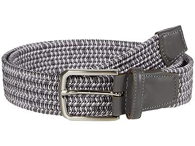 Torino Leather Co. 35mm Italian Woven Rayon Elastic (Grey) Men