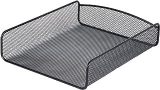 Safco Products Onyx Mesh Single Tray Desktop Organizer 3272BL, Black Powder Coat Finish, Durable Steel Mesh Construction