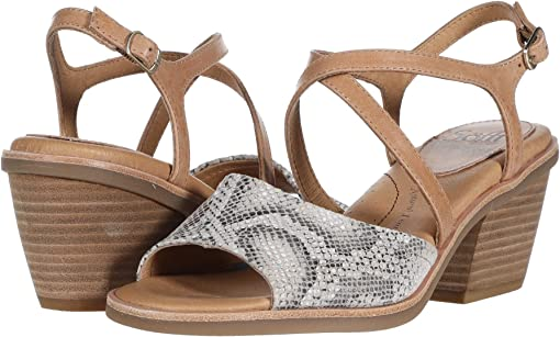 Nude/Rosewater Brooklyn Snake Print/Tequila