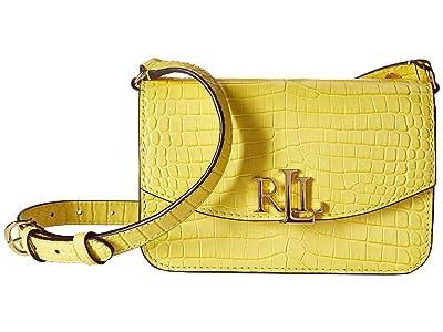 LAUREN Ralph Lauren Elmswood Madison 18 Crossbody (Lemon Sorbet) Handbags