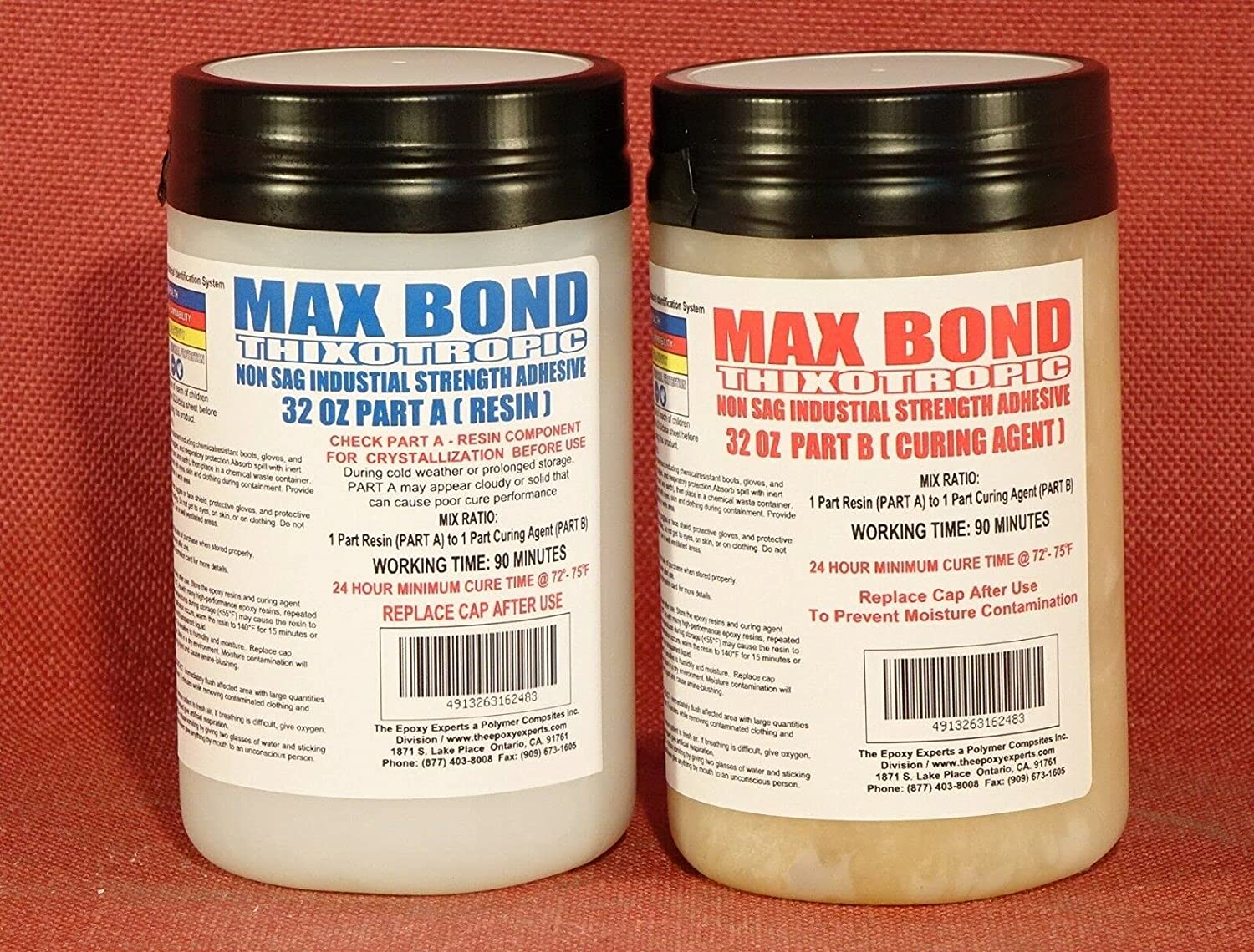 2 Pcs of EPOXY Resin Very 4 Max 82% OFF Non-Flowing Wood San Francisco Mall Concret Glue Strong