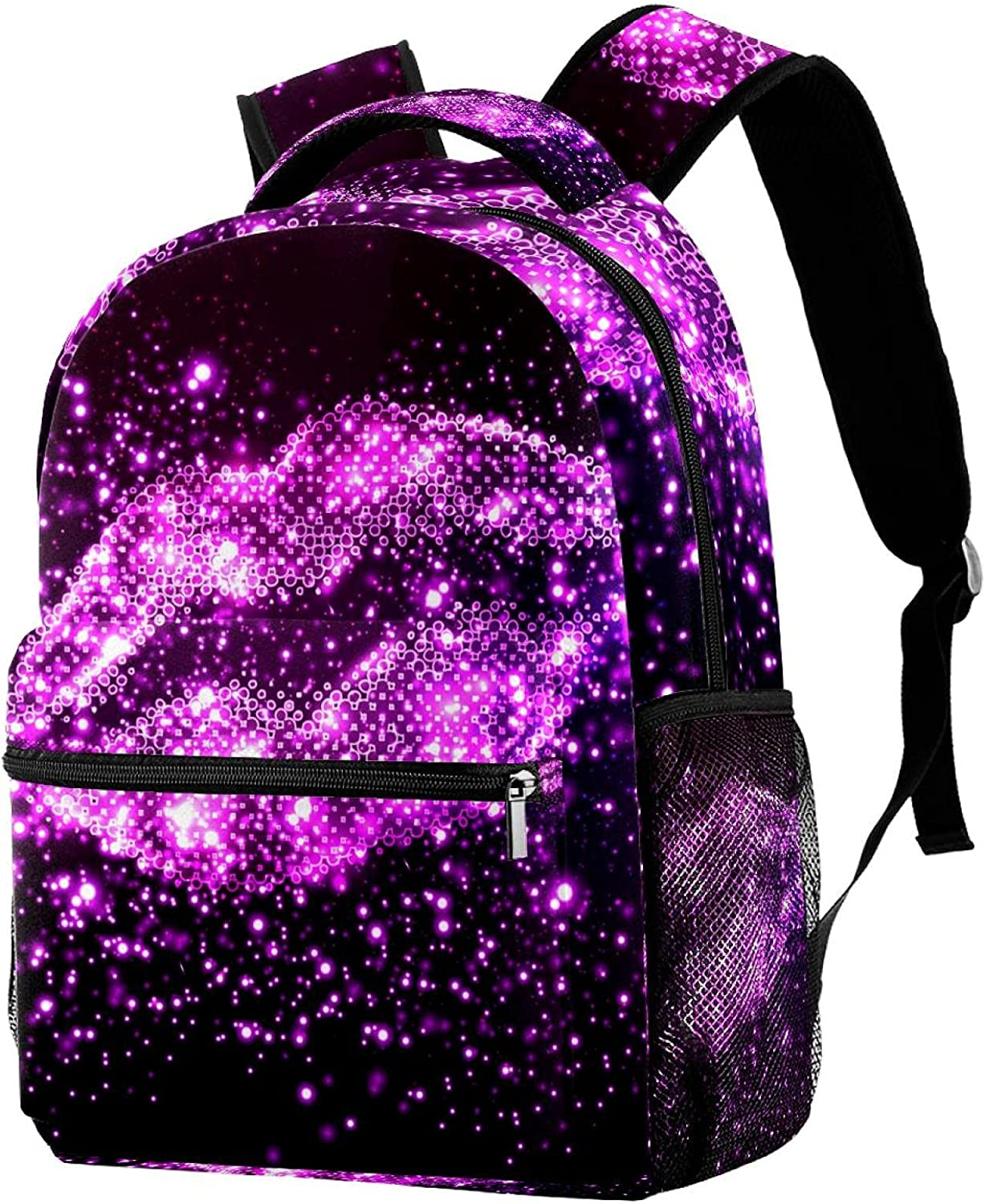 Fashion Small Backpack for Max 48% OFF Girls Boys Daypack Bag Purple Star Lip Travel