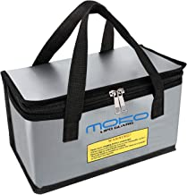 MoKo Fireproof Explosionproof Battery Safe Bag, Storage Guard Safe Sleeve Bag for Lipo Battery Storage and Charging, Zippe...