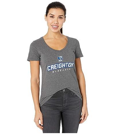 Champion College Creighton Bluejays University V-Neck Tee (Granite Heather) Women