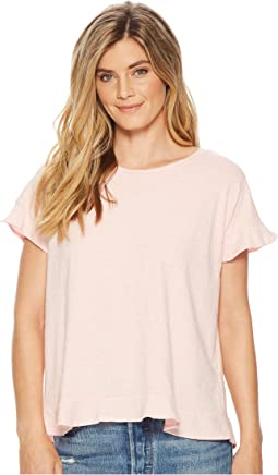 Mod-o-doc - Soft Spun Jersey Crossover Back Top w/ Flounce