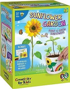 Creativity for Kids Sunflower Garden - Sunflower Growing Kit - Garden Set for Girls and Boys