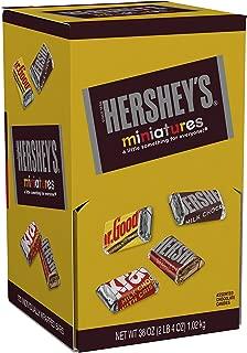 HERSHEY'S Chocolate Candy Bar Assortment, Miniatures (Hershey's, Krackel, Mr Goodbar, Special Dark), 36 Ounce