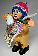 【EKEKO エケコ人形 19cm GOLD 】 L サイズ ★今だけワイルーロの実プレゼント中!大きいサイズ のエケコ人形 19cm ゴールド・金色【当店 Vivas Latin Shop オリジナル モデル】ペルー製(ペルー直輸入)