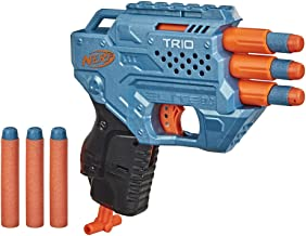 NERF Elite 2.0 Trio SD-3 Blaster -- Includes 6 Official Darts -- 3-Barrel Blasting -- Tactical Rail for Customizing Capabi...