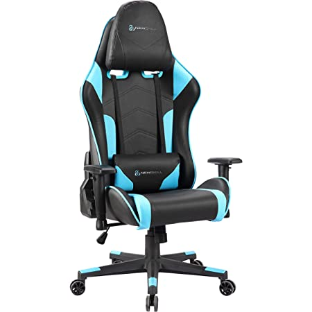 Newskill Kitsune - Silla gaming profesional (Inclinación y altura regulable, reposabrazos 2D ajustables, base en nylon, reclinable 180º), Color Azul