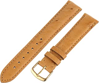 Hadley-Roma Men`s Genuine Ostrich Leather Watch Band MS-2003
