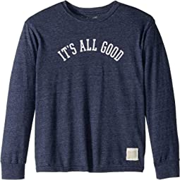 Its All Good Long Sleeve Vintage Tri-Blend Tee (Big Kids)