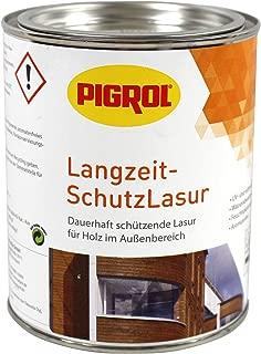 Pigrol Langzeit-Schutzlasur 0,75L palisander Holzlasur für alle Hölzer im Außenbereich