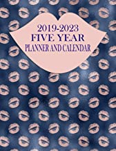 2019-2023 Five Year Planner And Calendar: Rose Gold Lips 60-Month Planner - Monthly Agenda And Organizer