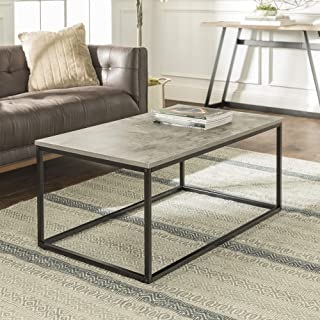 Walker Edison Furniture Company Modern Metal Frame Open Rectangle Coffee Accent Living..