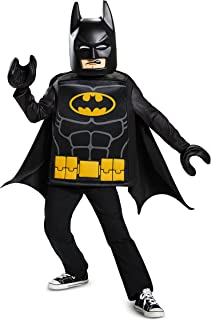 Disguise Batman Lego Movie Classic Costume, Black, Medium (7-8)