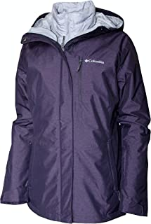 Columbia Women's Nordic Point III Waterproof Interchange Winter Omni Heat Jacket (Dark Plum, M)