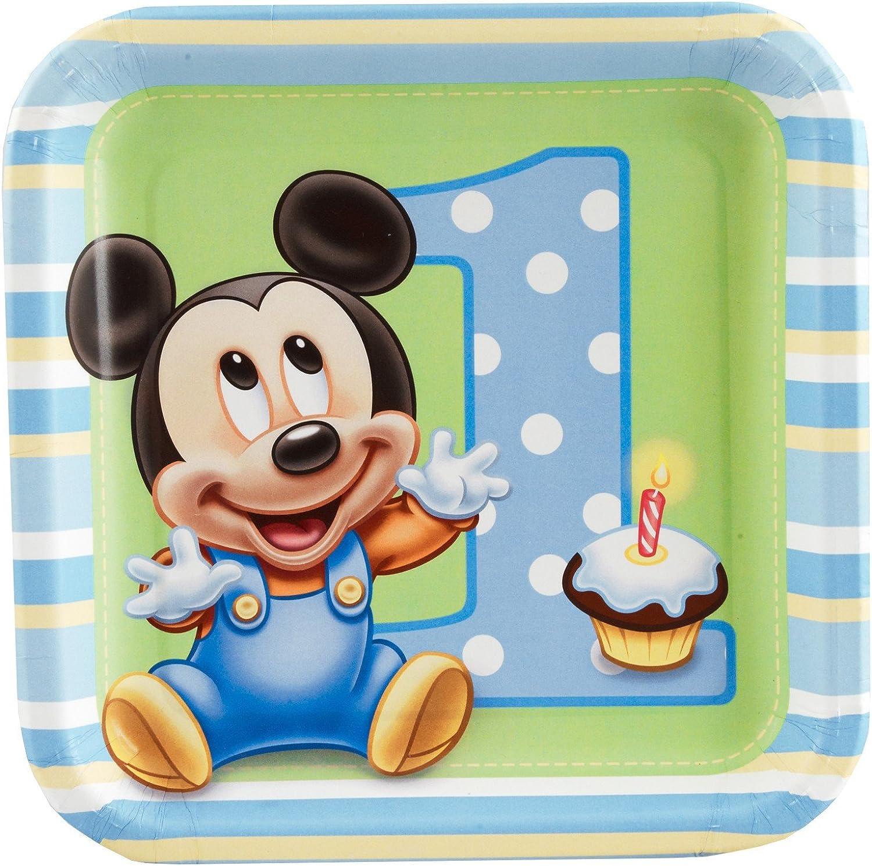 Mickey's 1st Birthday Dessert Plates (8 count)