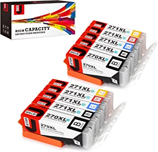 JetSir 5 Color Compatible Replacement for Canon PGI-270 XL CLI-271 XL Ink Cartridge 2 Set, Compatible with Canon Pixm MG6820 MG6821 MG6822 MG5720 MG5722 MG5721 TS5020 TS6020 Printers