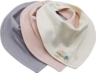 """babyne ll o Baby Lätzchen Halstuch - saugstark, doppellagig, weich - 3""""er Pack Mädchen oder Junge - Baby Spucktuch – Sabberlätzchen - Futterlätzchen aus 100% zertifizierter Bio-Baumwolle in natürlichen Farben"""