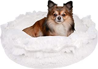 product image for BESSIE AND BARNIE Ultra Plush Snow White Luxury Shag Deluxe Dog/Pet Cuddle Pod Bed