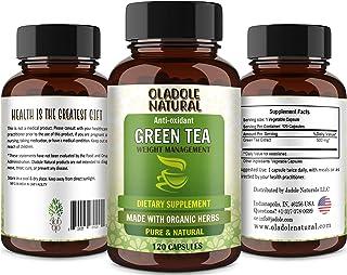 Oladole Naturals Green Tea 500 mg, 120 Capsules