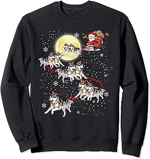 Santa Sleigh Siberian Husky Shirt Christmas Dog Lover Gift