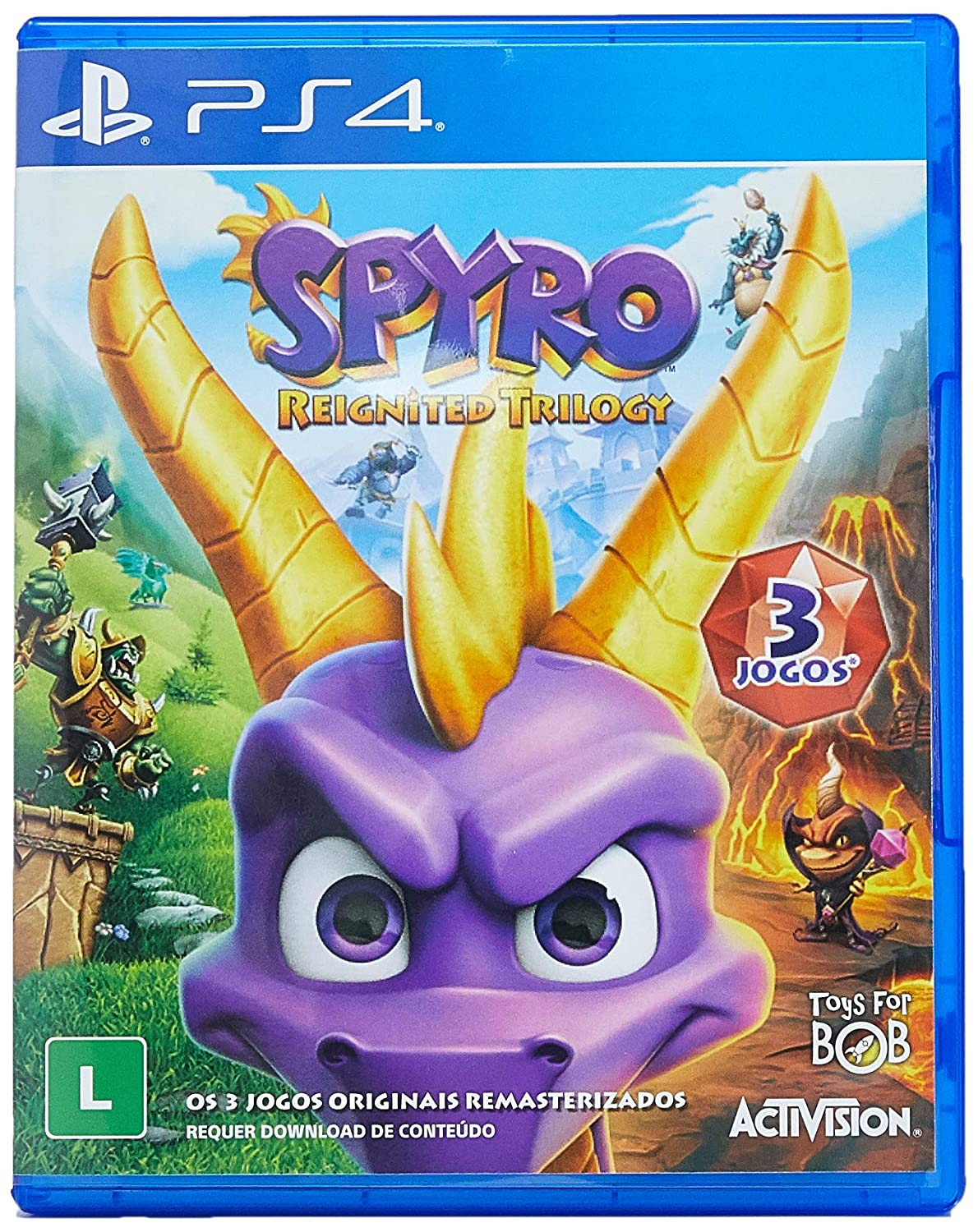 Spyro Reignited Trilogy - Cheap mail order specialty store PS4 FREE quality assurance REGION Portuguese English