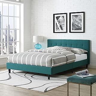 Modway Linnea Fabric Bed, Queen, Teal