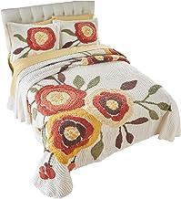 BrylaneHome Bloom Chenille Bedspread - King, Marigold