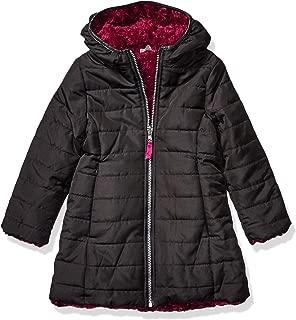 Jessica Simpson Girls' Heavyweight Jacket with Cozy Hood Trim