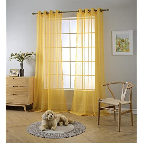 Yellow Living Room Curtains: Amazon.com
