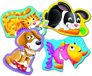 The Learning Journey My First Shaped Puzzle - Pet Friends - 4 Sets of Twopiece Puzzles