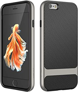 JETech Case for iPhone 6 and iPhone 6s, Slim Protective Cover with Shock-Absorption, Carbon Fiber Design, Grey