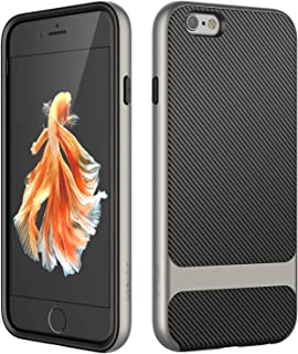 JETech Case for Apple iPhone 6s and iPhone 6, Slim Protective Cover with Shock-Absorption, Carbon Fiber Design, Grey