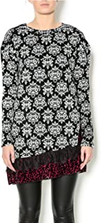 Gina Louise Holiday fleur-de-lis European style tunic sweater