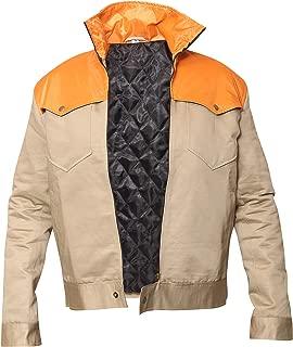 Kevin Costner Khaki Cotton Satin Jacket