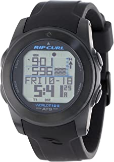 """Rip Curl Men's A1088 """"Pipeline"""" Stainless Steel Digital Watch with Black Silicone Band"""