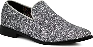 ad63797dce5d SPK04 Men s Vintage Glitter Dress Loafers Slip On Shoes Classic Tuxedo  Dress Shoes