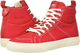 Red Canvas/Antique White