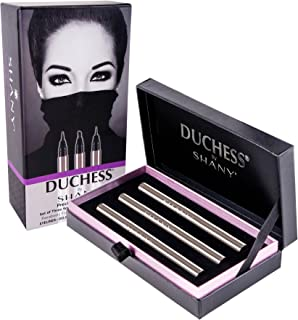 DUCHESS by SHANY - Set of 3 Black Waterproof Liquid Eyeliners with Paraben-free Formula and Aloe Vera - Precision Collection