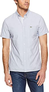 Lacoste Men's Ss End On End Dress Shirt