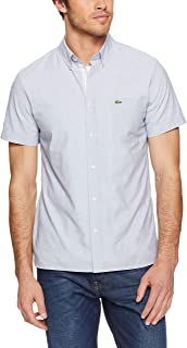 Lacoste Men's Ss End On End Dress Shirt