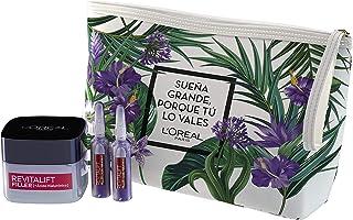 LOréal Paris Set de Regalo Incluye Neceser + Revitalift Filler Crema de Día + Ampollas Rellenadoras