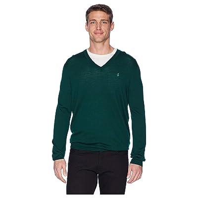 Polo Ralph Lauren Washable Merino V-Neck Sweater (College Green) Men