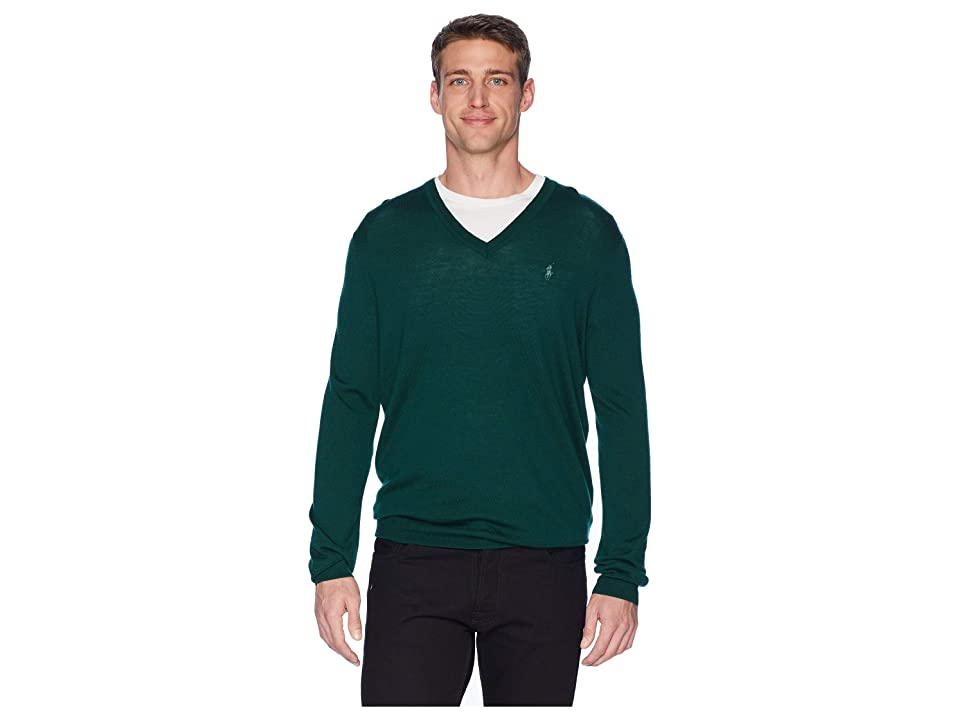 Polo Ralph Lauren Washable Merino V-Neck Sweater (College Green) Men